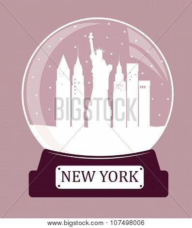 New York  Christmas Glass Ball