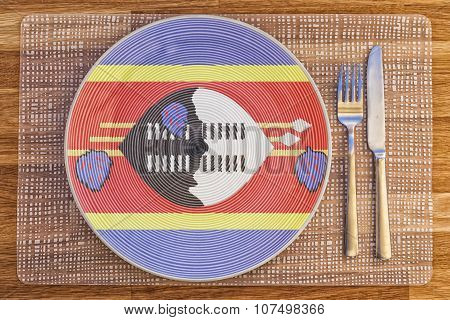 Dinner Plate For Swaziland