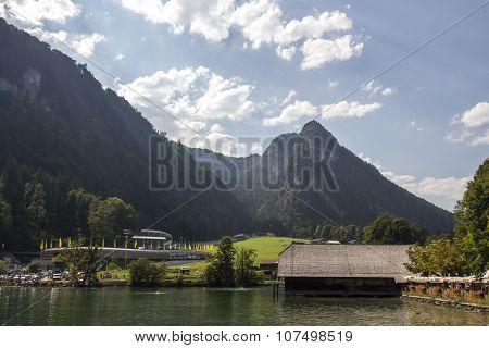 Koenigssee Lake Close To Berchtesgaden, Germany, 2015