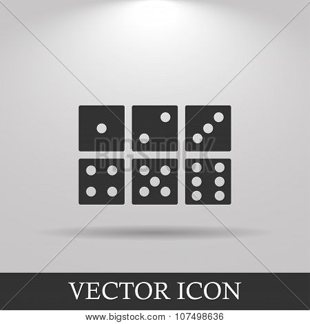 Dice Icon. Flat Design Style.