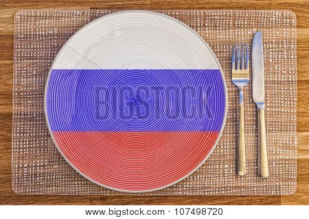 Dinner Plate For The Russian Federation