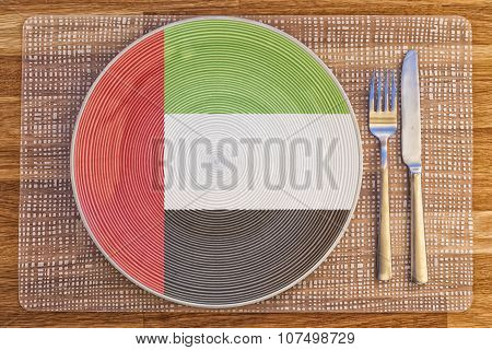 Dinner Plate For The United Arab Emirates