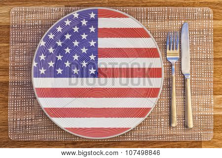 Dinner Plate For The United States Of America