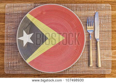 Dinner Plate For Timor Leste