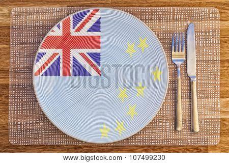 Dinner Plate For Tuvalu