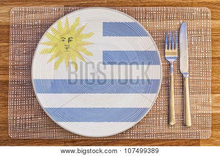 Dinner Plate For Uruguay