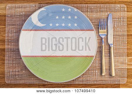 Dinner Plate For Uzbekistan
