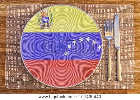 Dinner Plate For Venezuela