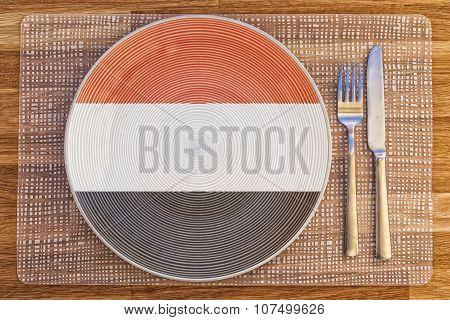 Dinner Plate For Yemen