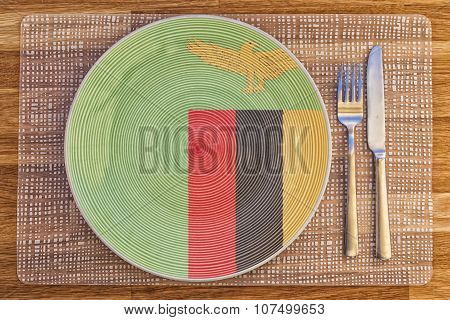 Dinner Plate For Zambia