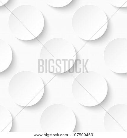 White paper seamless circle pattern background