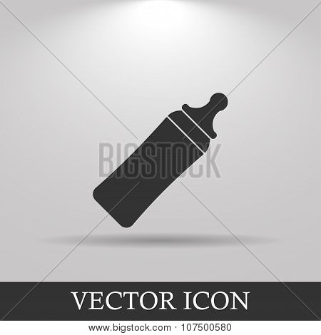 Baby Milk Bottle Icon - Vector
