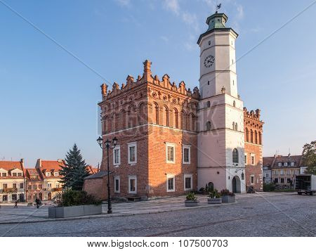 Sandomierz, Poland - October 16:part Of Old Town On October 16, 2015 In Sandomierz. Sandomierz Is Am