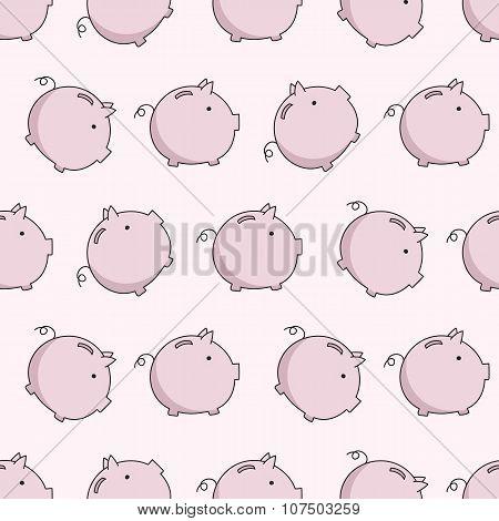 vector pig seamless puttern