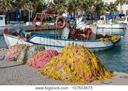 Traditional Fishing Boats In Greece