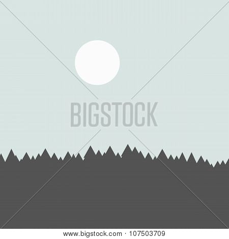 forest mountains background