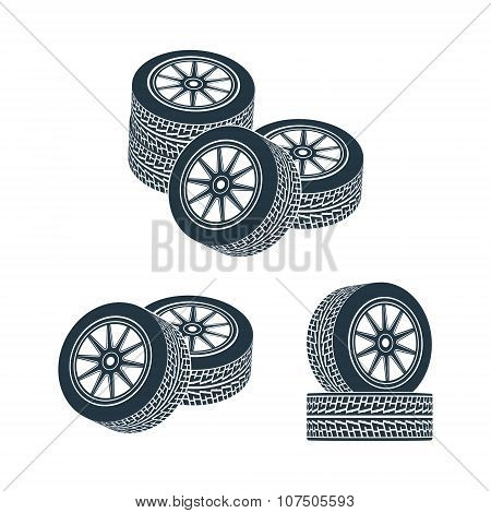 rubber wheel tire rim drive car