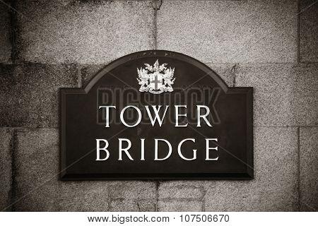 Tower Bridge London as the city landmark..
