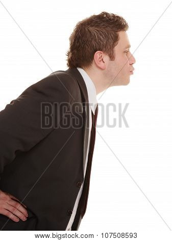 Business Happy Man Sending Kiss