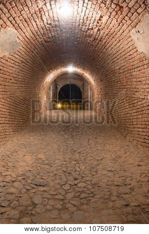 The Old Walled Underground Tunnel