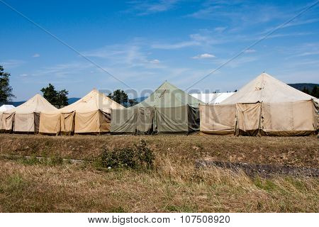 Military tent camp