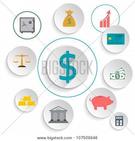 Set Icons Banking