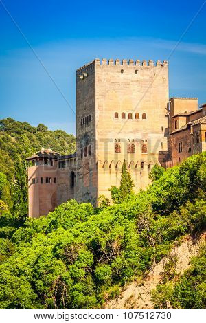 View Of The Famous Alhambra, Granada, Spain.