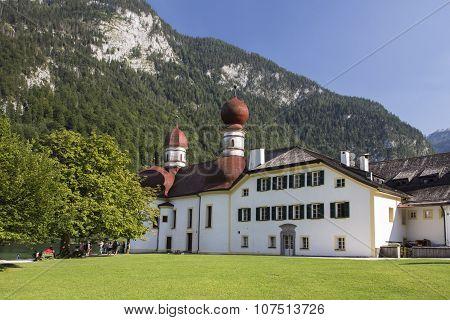 St. Bartholomew's Church At Koenigssee Lake Near Berchtesgaden, Germany, 2015