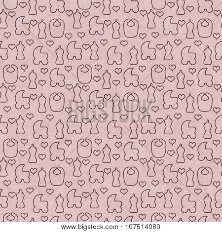 Brown Baby Tile Pattern Repeat Background