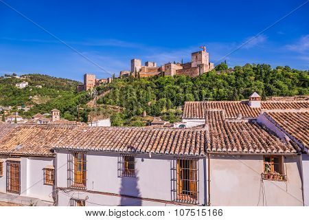 ancient arabic fortress of Alhambra Granada Spain