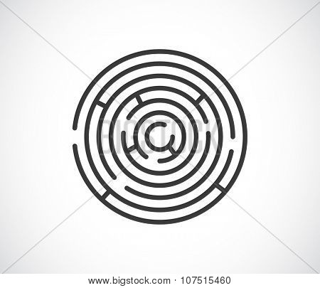maze labyrinth abstract icon