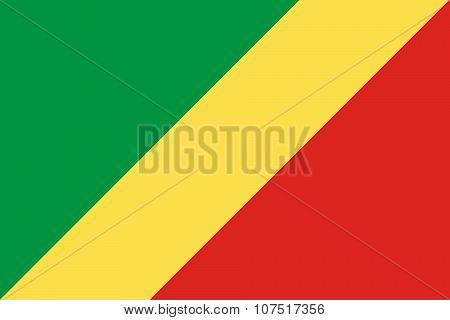 Flag Of Republic Of Congo