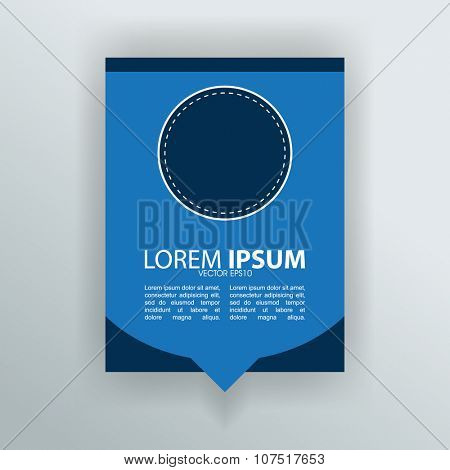 abstract blue leaflet brochure advertisement material concept design. eps10 vector