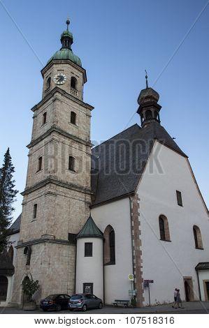 BERCHTESGADEN, GERMANY - AUGUST 13, 2015: Franziskanerkloster building (Franciscan convent) in Berchtesgaden, Germany