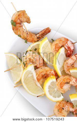 Shrimp Scampi Skeweres with Souce