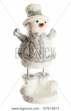 Figure Of Santa Claus Isolated On White Background