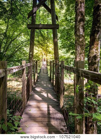 Hanging Bridge in Red River Gorge in Kentucky