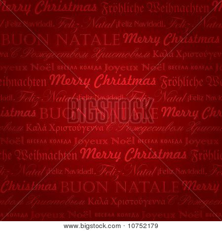 seamless multilingual christmas pattern (vector)