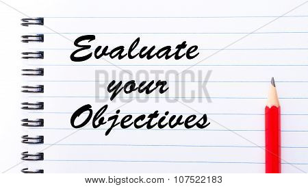 Evaluate Your Objectives