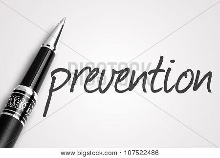 Pen Writes Prevention On White Blank Paper