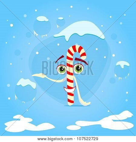 Christmas Candy Stick Cartoon Character Concept