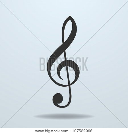 Icon Of Music Clef Or Music Note Key