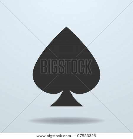 Vector Icon Of Spades Card Suit