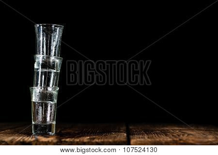 Pile Of Empty Shot Glasses