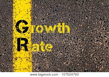 Business Acronym Gr As Growth Rate