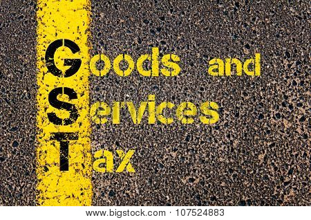 Business Acronym Gst As Goods And Services Tax
