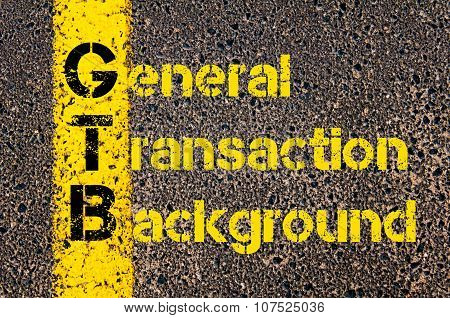 Business Acronym Gtb As General Transaction Background