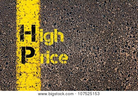 Business Acronym Hp As High Price
