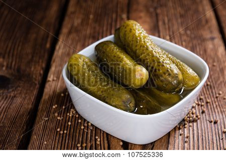 Preserved Gherkins (close-up Shot)