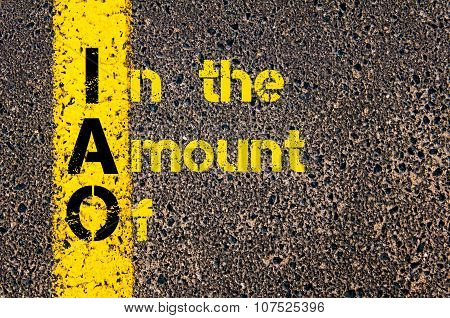 Business Acronym Iao As In The Amount Of